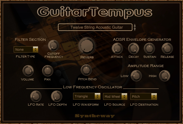 Return to the main page of GuitarTempus Virtual Acoustic, Semi Acoustic and Electric Guitar VST Plugin