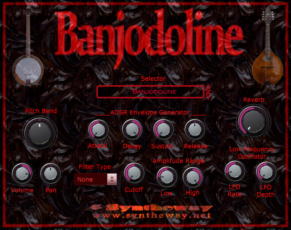 Return to the main page of Banjodoline, a Virtual Banjo and Mandolin sample based software, including a hybrid Banjolin, Octave Mandolin and Electric Mandolin stringed instruments.